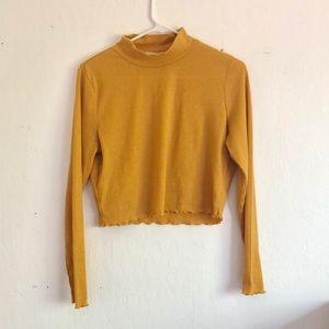 Cotton On Mustard Yellow Turtleneck Crop Sweater